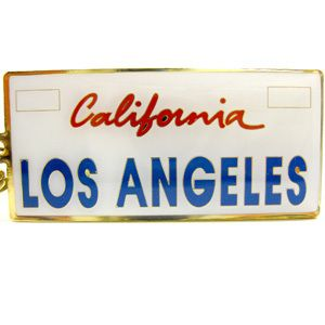 California License Plate with Los Angeles Key Ring