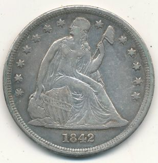 SEATED LIBERTY SILVER DOLLAR FABULOUS LIGHTLY CIRCULATED EARLY DOLLAR
