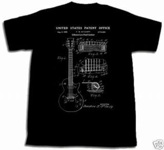 Gibson Les Paul Guitar Patent Shirt XL Tshirt XLarge