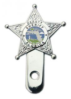 Deputy Sheriff Florida License Plate Topper