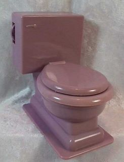 Vintage 1960s Am Transistor Novelty Radio Toilet John Purple