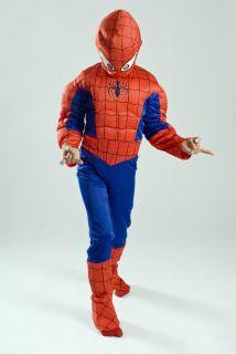 Boys Kids Glowing Spiderman Muscle Halloween Costume Light Up Lowest