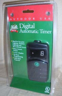 Digital Light Sensor Photocell Outdoor Automatic Holiday Light Timer