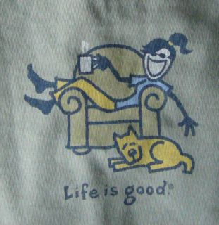 Life Is Good Womens Long Sleeve Tee Jackie Lounge New with Tags