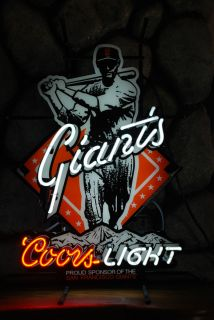 MLB San Francisco Giants Neon Pub Sign Coors Light (Billiard Room