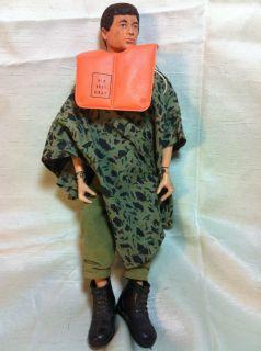 Fuzzy Dark Head 1964 Military Action Figure Life Jacket Dog Tag