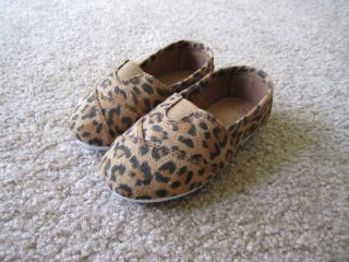 Leopard Print Toddler Shoes Like Toms for Girls