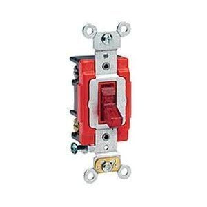 1221 PLR Leviton Red Pilot Light Switch 1P 20A 1221PLR