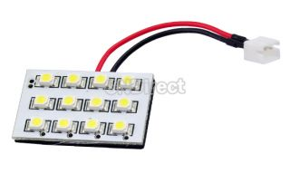 White12 LED 3528SMD Interior Dome Car Light Lamp Bulb 3 Adapter ESY1