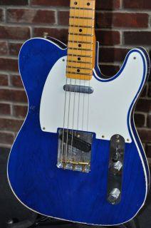 Telecaster Light Relic Sapphire Blue Transparent Custom Shop
