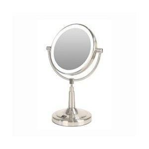 Light Battery Powered LED Lighted 5X 1X Vanity Magnifying Mirror