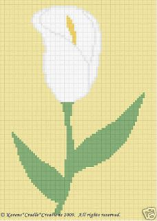 Crochet Patterns Calla Lily Flower Color Graph Pattern