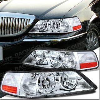 03 04 Lincoln Town Car Euro Clear Headlight Headlights Executive