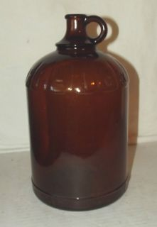ANCHOR HOCKING HI LEX BROWN AMBER GLASS JUG JAR GALLON VINTAGE