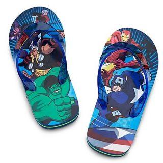 The Avengers Iron Man Hulk Flip Flops Beach Sandals Sz 9 10 11 12 13 1