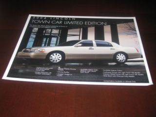 2004 Lincoln Town Car Limited Edition Sales Brochure
