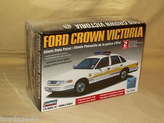 LINDBERG CAR MODEL KIT FORD CROWN VICTORIA ILLINOIS STATE POLICE 72776