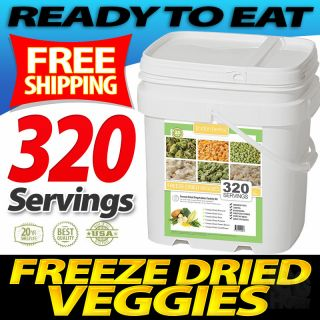 Lindon Farms Vegetables 320 Serving Freeze Dried Food Storage Survival