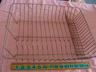 Vintage Primitive Rustic Metal Wire Dish Drainer Drying Rack