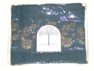 Penney Linden Street Lined Embroidered Tab Top Valance 60 x 18