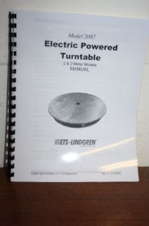 ETS Lindgren 2087 Electric Powered Turntable Manual