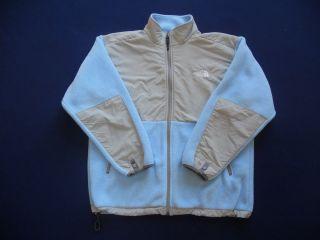 Girls Light Blue Fleece North Face Jacket Size Large