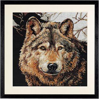 Counted Cross Stitch Kit Wolf Linda Gillum Janlynn