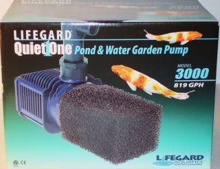 LIFEGARD AQUATICS QUIET ONE 3000 PRO SERIES Pond Water Garden Pump 819
