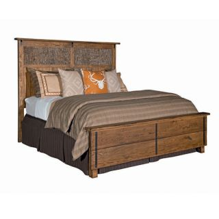 Kincaid Homecoming Vintage Oak Linville King Rustic Bed Solid Oak