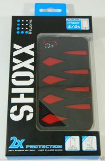 Lifeworks SHOXX Soft Rubber & Hard Plastic Case for iPhone 4/4S Screen