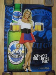 Sexy Girl Beer Poster St Pauli Lisa Dergan Playboy