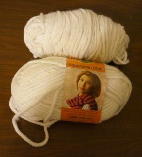 Lion Brand Hometown USA Bulky Yarn New York White 2 Skeins