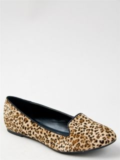 New Paprika Women Animal Leopard Print Loafer Flat Shoe Brown Tan