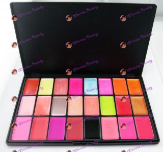 Pro New 24 Colors Lip Gloss Palette Makeup Cosmetic Kit
