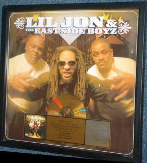 RIAA CERTIFIED Gold Record Award   Lil Jon & East Side Boyz Presented