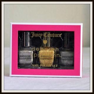 Juicy Couture Deborah Lippmann Metallic Nail Polish Set New in Box