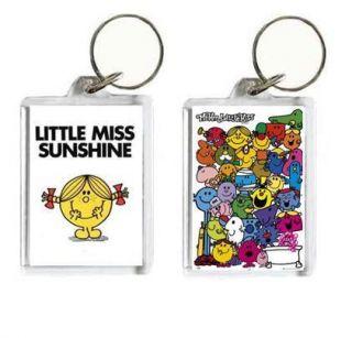 Little Miss Sunshine Mr Men, Little Miss, Cartoon Keyring, Ideal Gift