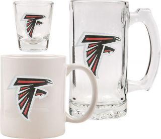 Atlanta Falcons Glassware Set Logo Tankard Coffee Mug Shot Glass
