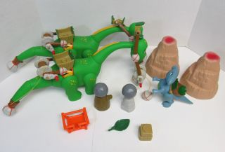 LITTLE TIKES Dinosaur DINO Lot 3 Flintstone Brontosaurs Animal Planet