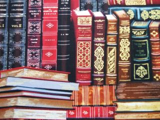 Library Books Classic Literature Timeless Treasures Cotton Fabric Yard