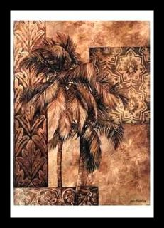Golden Tapestry I Palm Art Framed Linda Thompson