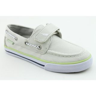 Nautica Little River Youth Boys Size 6 Gray Fabric Boat Shoes