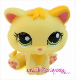 Littlest Pet Shop ♥ LPS ♥ RARE Yellow Kitten Green Eyes 1649