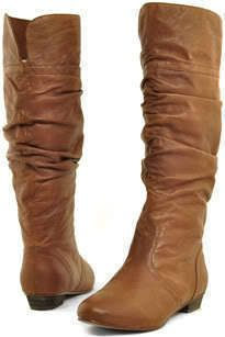 Steve Madden Candence Tan Cognac Cowboy Riding Boot Leather Brown Sz