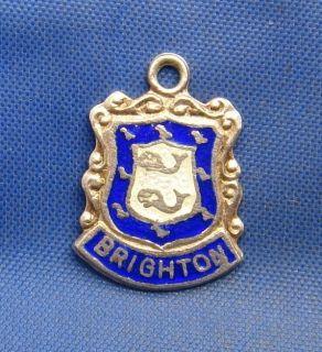 Vintage Sterling Silver Travel Souvenir Shield Charm BRIGHTON (England