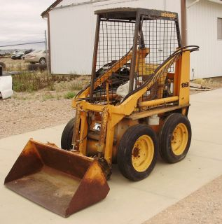 Case 1816B Gasoline Skid Steer Uni Loader Bucket and Forks