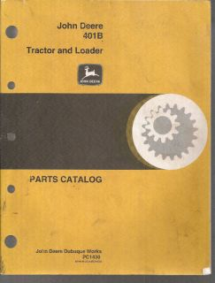 John Deere 401B Tractor Loader Parts Manual