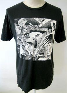 Local Celebrity Relativity Mens Tee Shirt M C Escher Graphic Art New