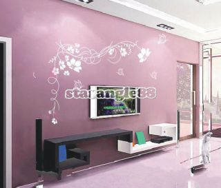 Living room on vine large flower wall stickers wall decals living room