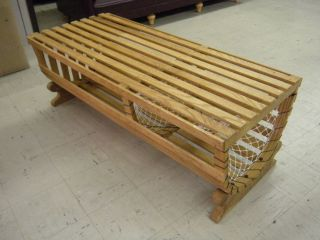 Lobster Pot Table Bench Coffee Nautical Hall Furniture Cushion Oak